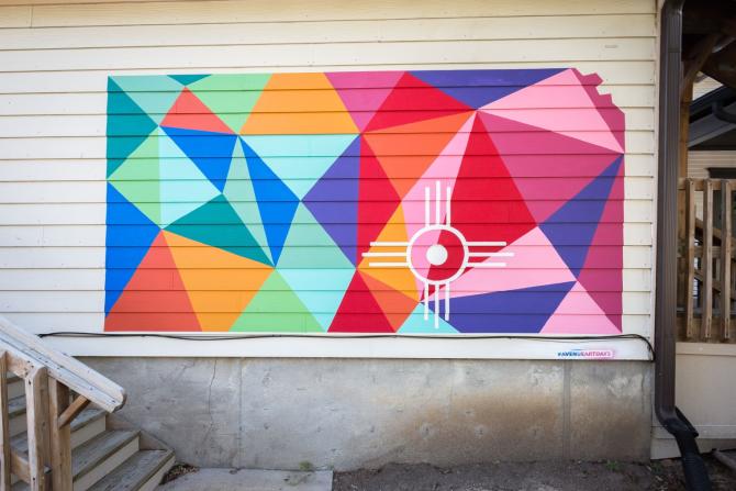 Kansas Geometric Mural