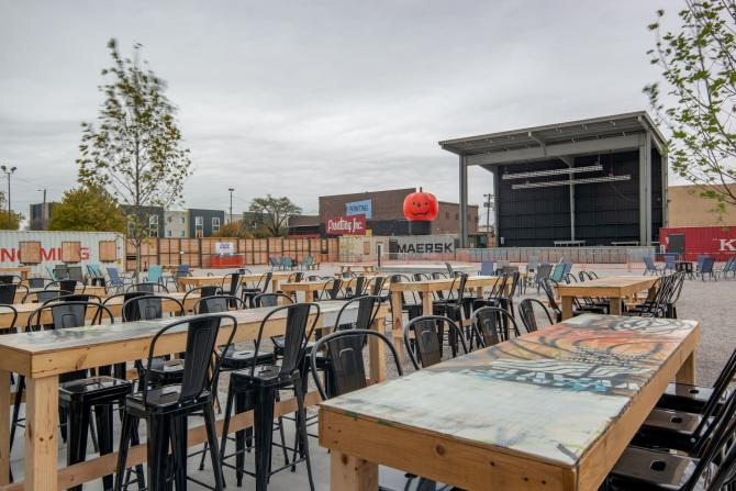 WAVE Outdoor Seating and Stage