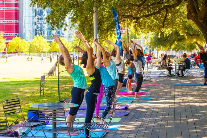 Core Yoga in Discovery Green Park
