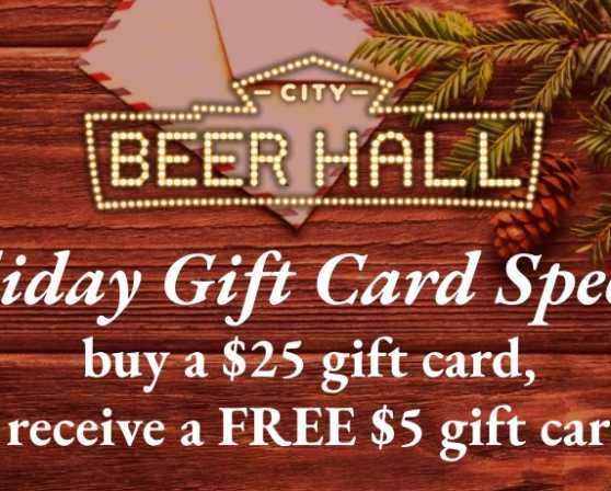 Holiday Gift Card Offer 2020
