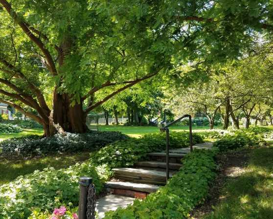 Ten Broeck Mansion gardens