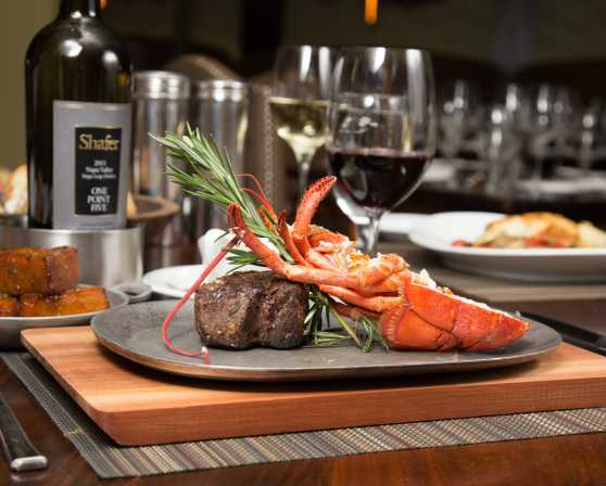 Black & Blue Steak and Crab - Filet with Half Lobster
