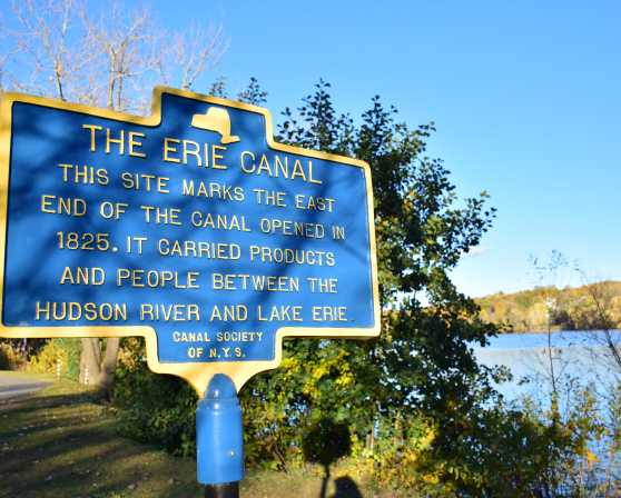 Erie canal history sign
