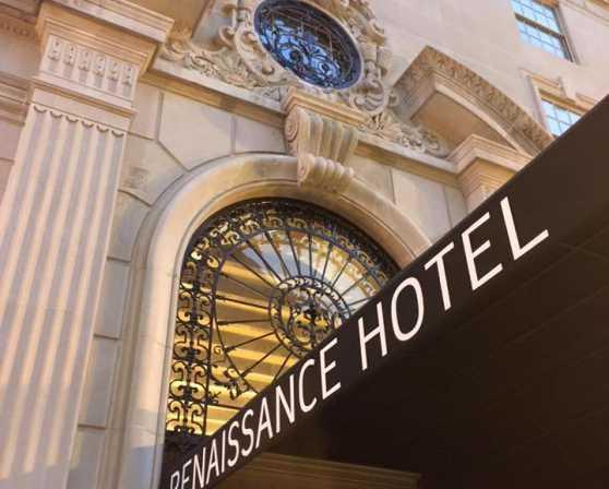 Renaissance Hotel Sign-entrance