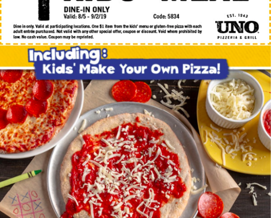 $1 August Kids Meals