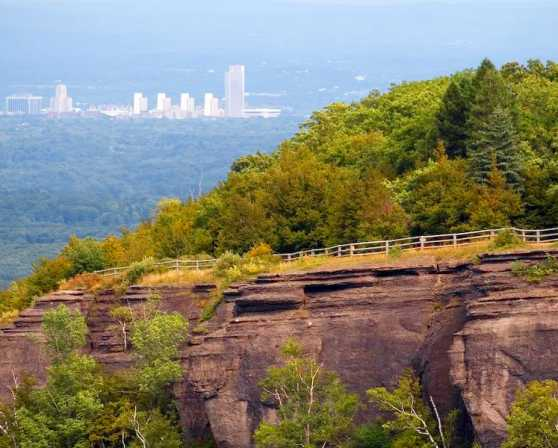 Thacher Park and a View of Albany