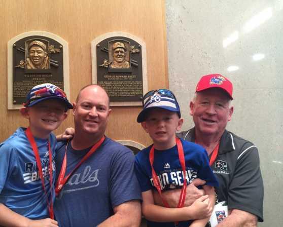Baseball fans at the Baseball Hall of Fame