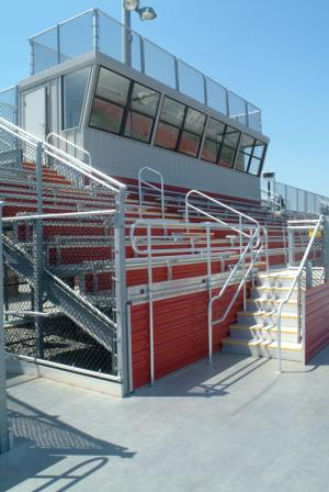 Anodized aluminum bleachers