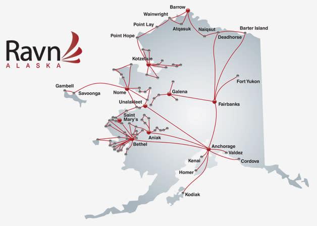 Ravn Flight Map