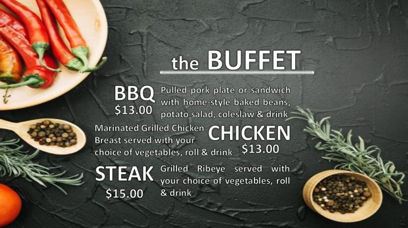 AUSA Buffet Menu