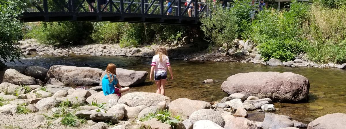 Boulder Creek Kids Wading