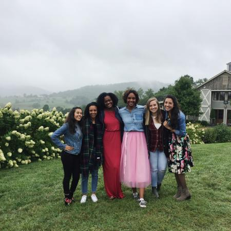 Bachelorette group at Pippin Hill Farm & Vineyards