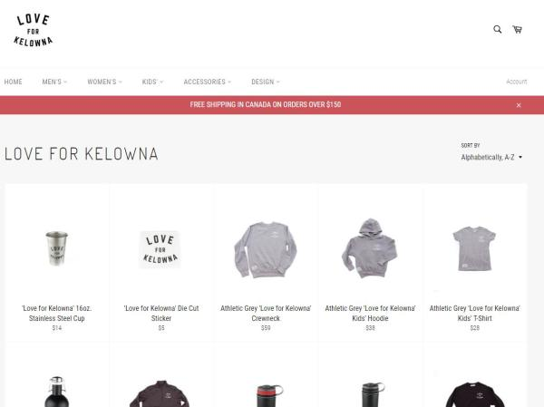 Love for Kelowna Online Store