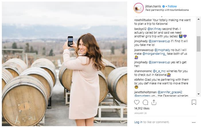 Instagram Photo of Jillian Harris in Kelowna