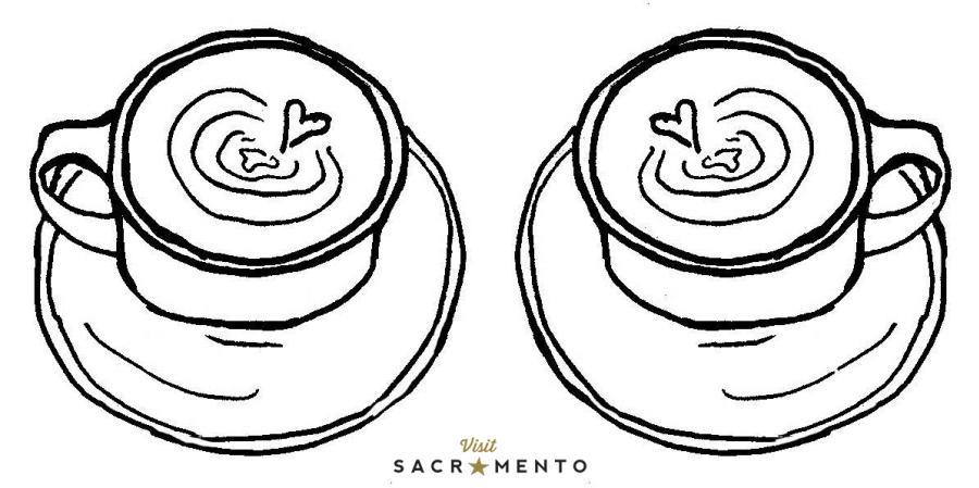 Sacramento Coffee Coloring Page