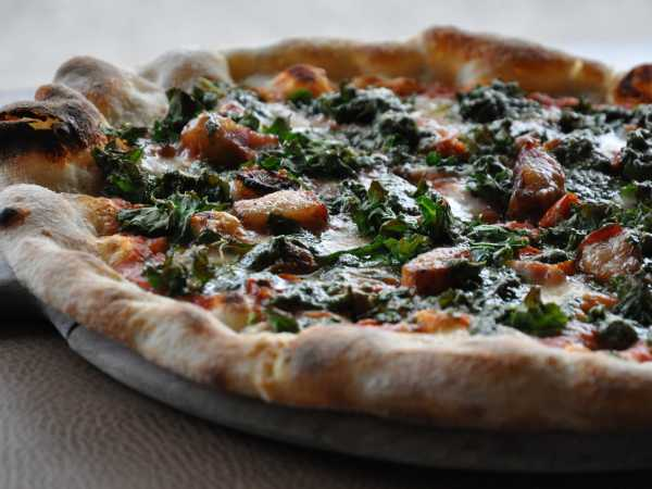 Bacon & Kale Pizza