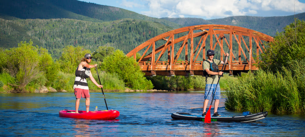 SUP on the Yampa River in Steamboat Springs