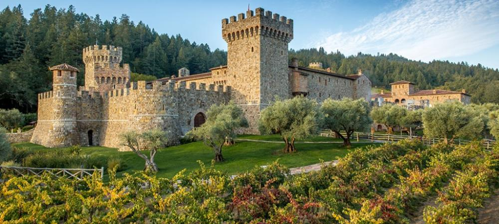 The stately Castello Di Amorosa was inspired by medieval Italian castles.