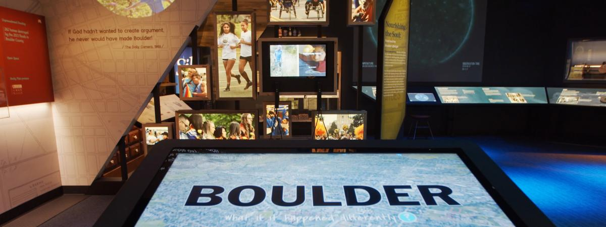 Inside the Museum of Boulder with displays