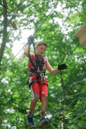 Boy on ZipZone Adventure Park