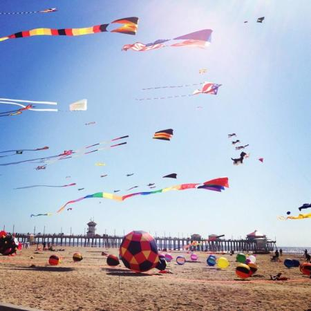Kite flying is a Huntington Beach pastime!