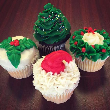 Our Cupcakery Holiday cupcakes