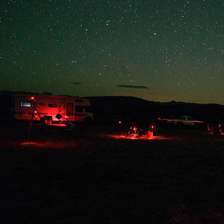 cosmic campground at night