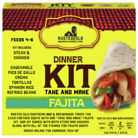 Rusted Silo Fajita Take and Make Dinner Kit (Photo courtesy of Rusted Silo's Facebook Page)