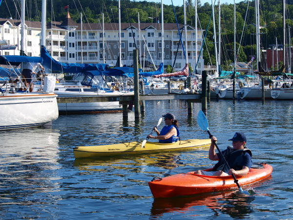 Kayakers on Seneca Lake