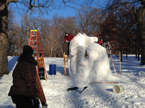 snow sculpting artists