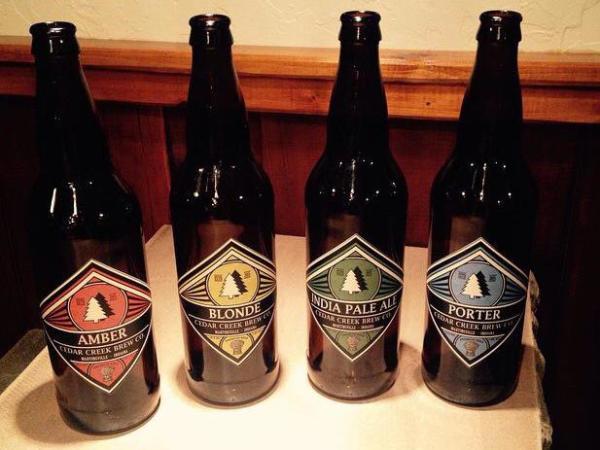 Cedar Creek Brew Co Bottles