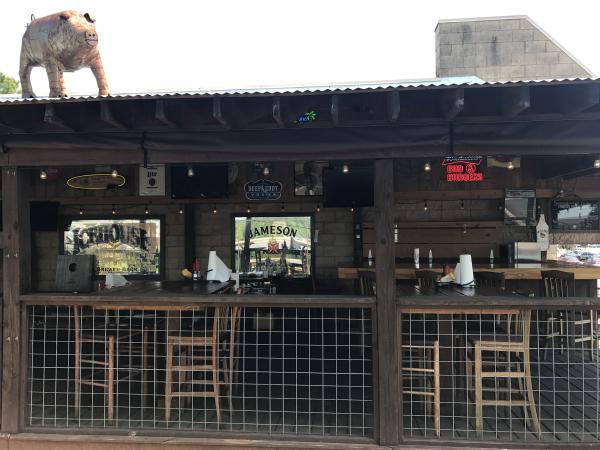 The patio of Blind Pig Tavern in Athens, GA