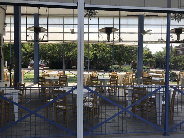 A local Mexican restaurant's outdoor patio.