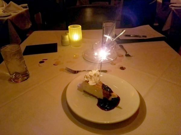 dessert at Fleming's