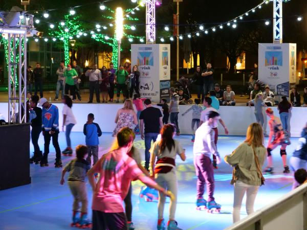 The Roller Rink at Night