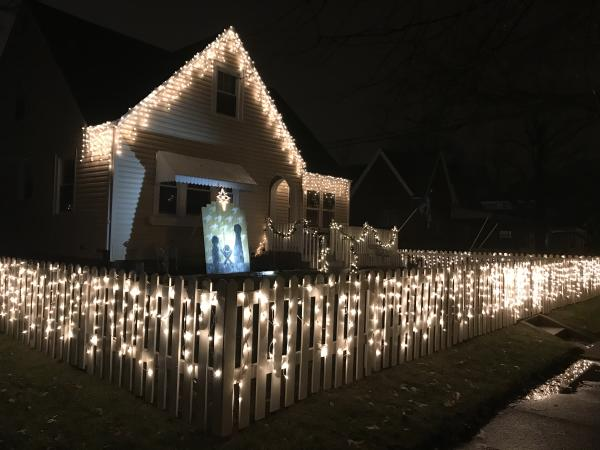 1815 Curdes Ave Christmas Lights Display in Fort Wayne, Indiana by Melanie Koch