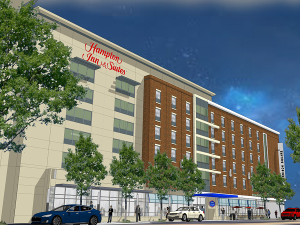 Hampton Inn Downtown Rendering