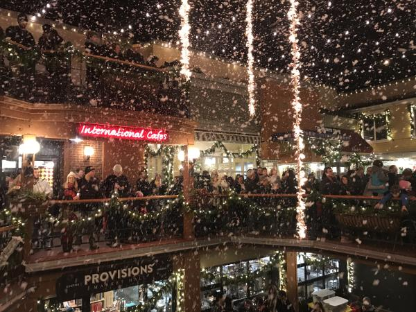 Snow at the Fifth Street Public Market