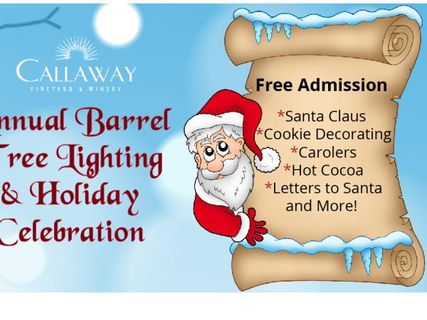 Annual Barrel Tree Lighting & Holiday Celebration