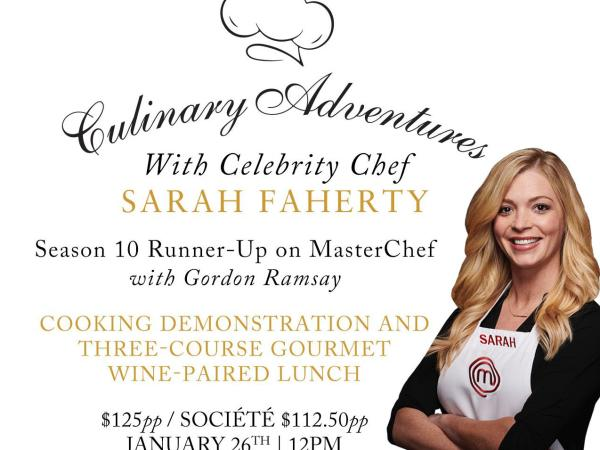 Cooking Demonstration with Celebrity Chef Sarah Faherty