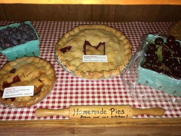 Pies and Cherries from Morgan's Half Acre Produce