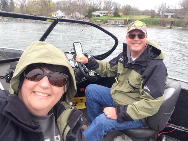 Meet the Fisherwoman - Michelle Barber with husband Rob in their boat