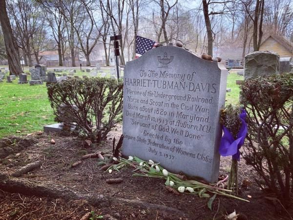 Harriet Tubman Grave site at Fort Hill Cemetery