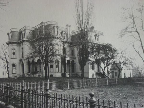 Culbertson Mansion Black and White