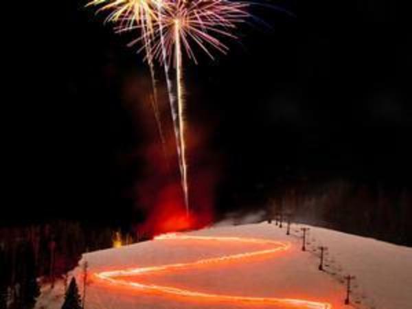 Torchlight Parade at Ski Apache