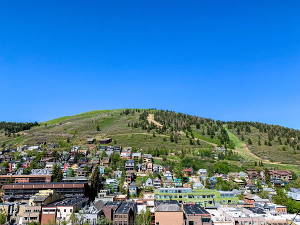 Scenic View of Old Town Park City