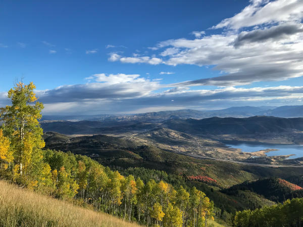 Scenic view of Jordanelle Resevoir from Deer Valley