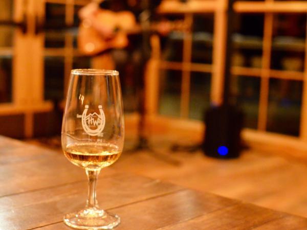 Highwest whiskey in tasting glass
