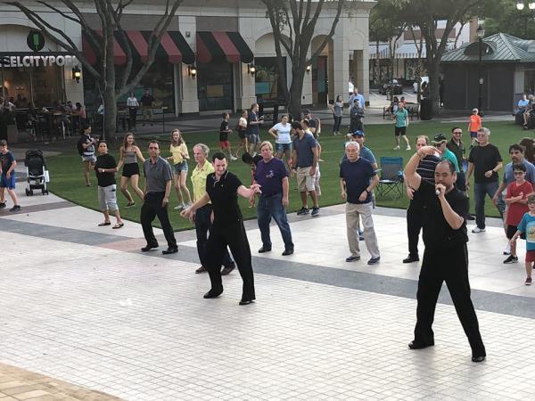 Dancing in Sugar Land Town Square