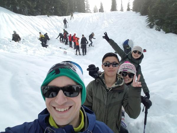Snowshoeing at Paradise at Mount Rainier